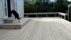 new back deck leading to studio.